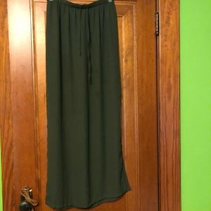 All green maxi skirt!